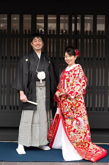 京都前撮り 色打掛 京町家