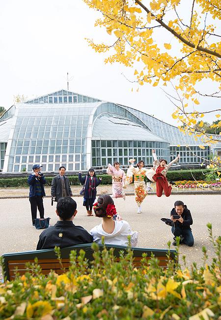 京都前撮り 京都府立植物園